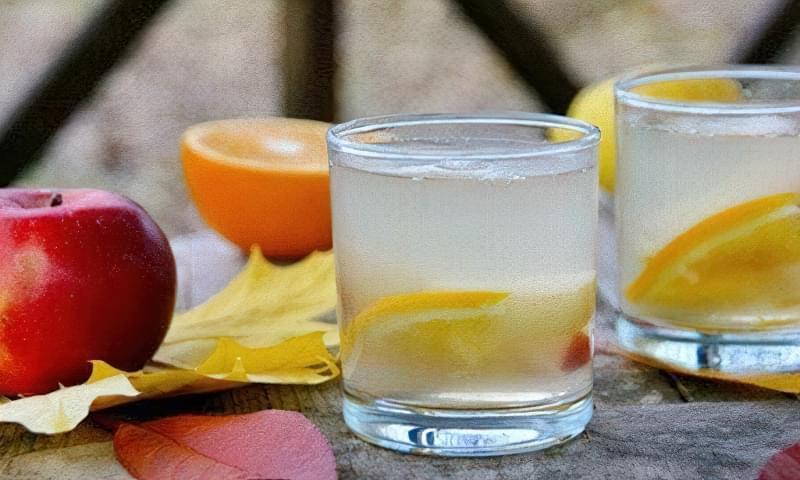 Яблучний компот з апельсином без стерилізації