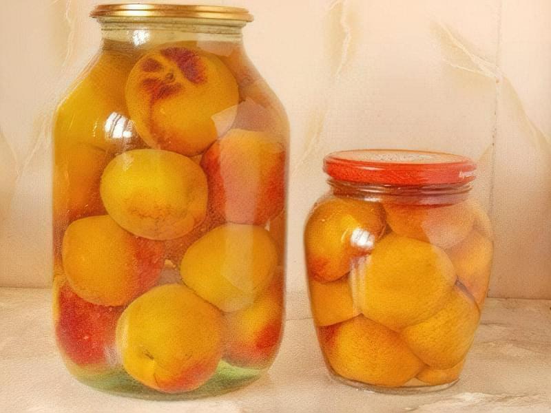 Консервовані персики без стерилізації