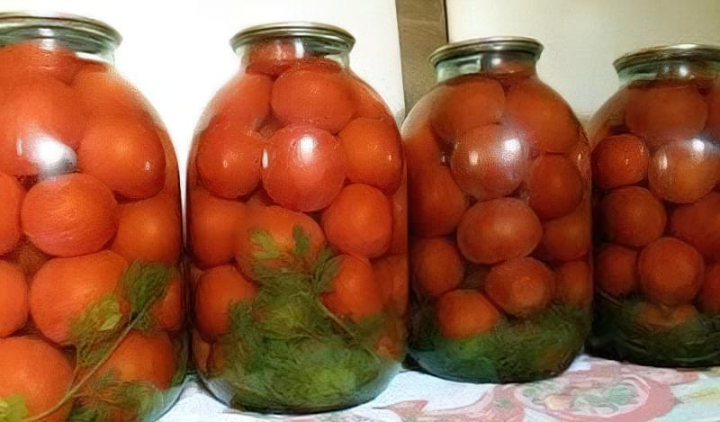 Помідори на зиму з бадиллям моркви
