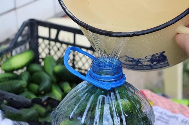 Солоні огірки в пластиковій пляшці на зиму 6