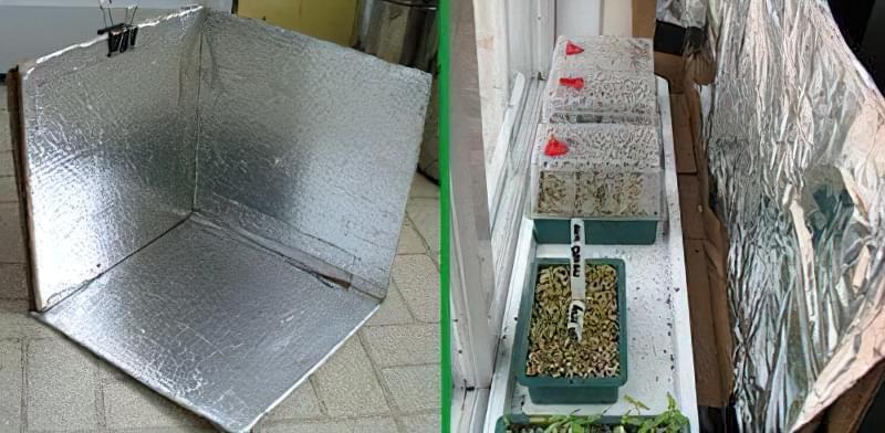 Екран з фольги для розсади