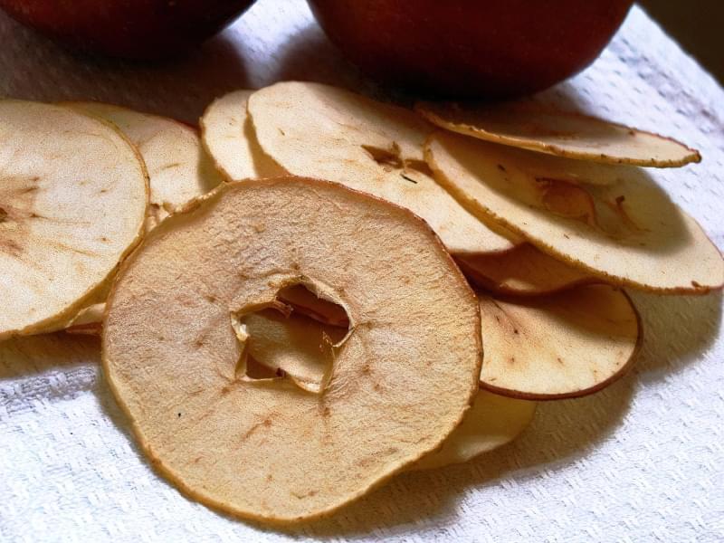 Яблука після сушіння