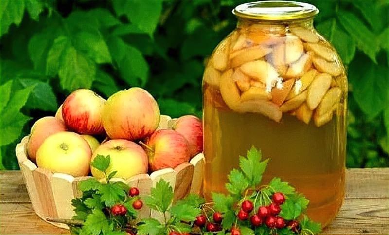 Компот з яблук на зиму — рецепти на 3-х літрову банку 1