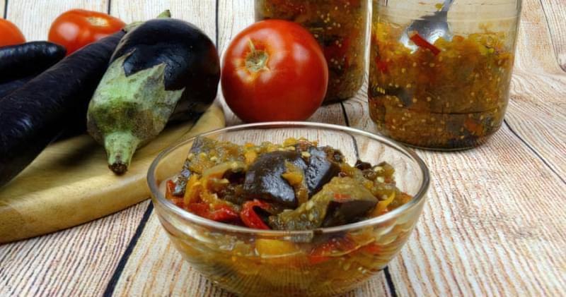 Лечо з баклажанів і болгарського перцю — простий рецепт заготовки 1