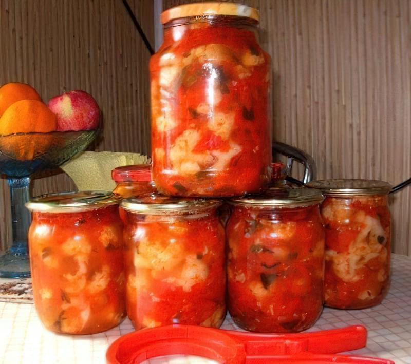 Лечо з цвітної капусти, або овочева ікра - смачна заготовка на зиму 4