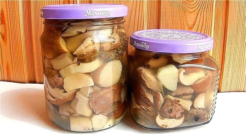 Хрусткі мариновані білі гриби на зиму