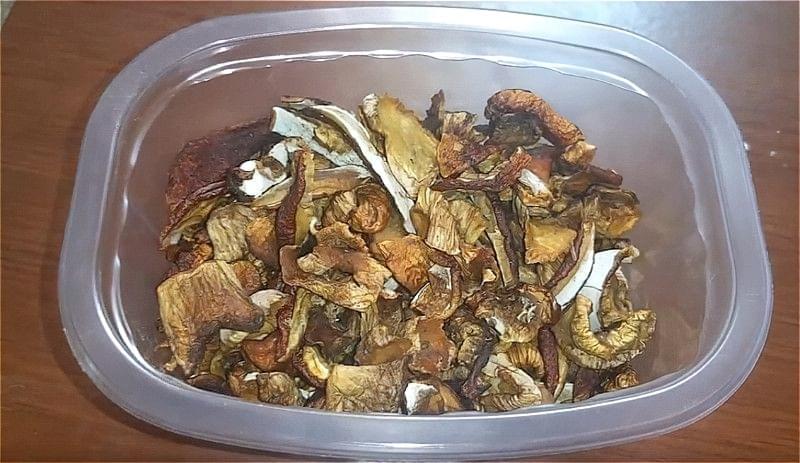 гриби, сушені в духовці