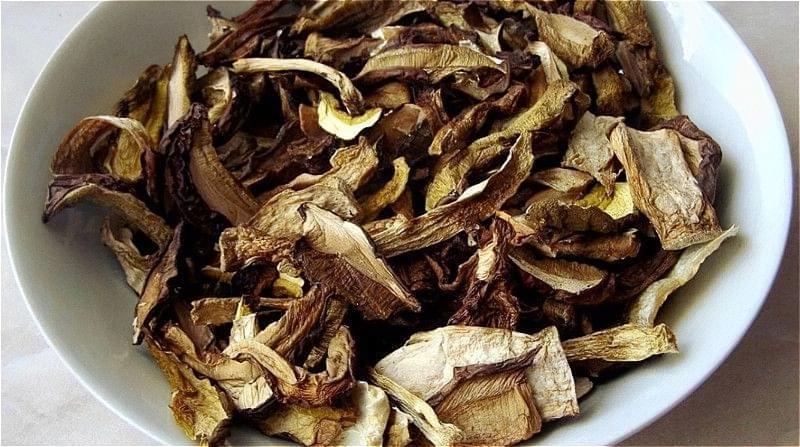 сушені гриби в мікрохвильовці