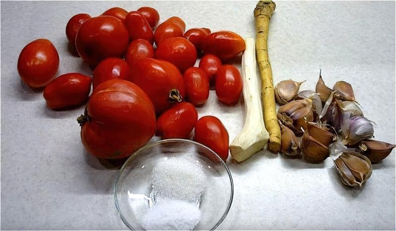 інгредієнти для хріновини