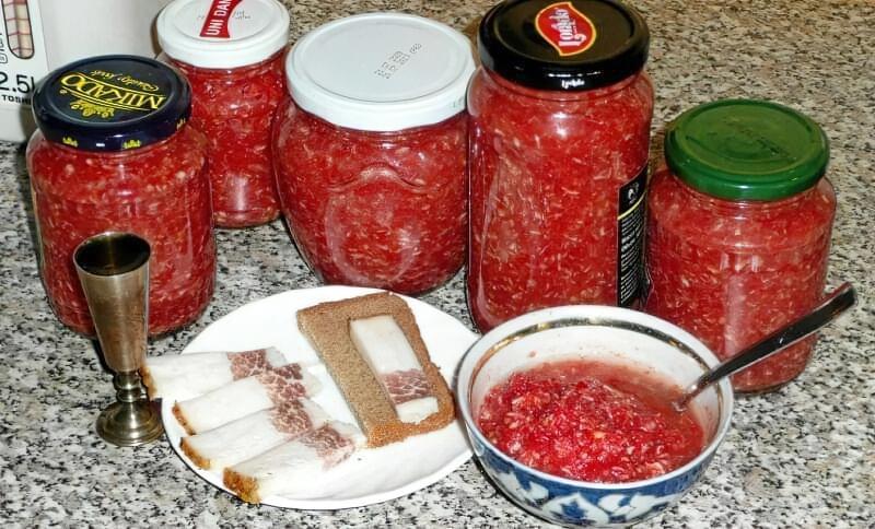 Хріновина з помідорів і хрону з часником на зиму - класичні рецепти 2