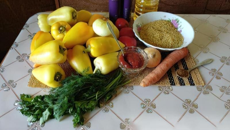 Фарширований перець з булгуром і овочами 1