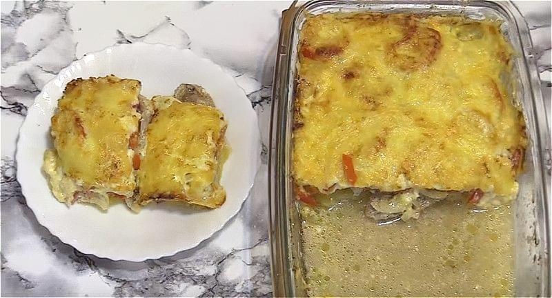 картопля з м'ясом по-французьки в духовці