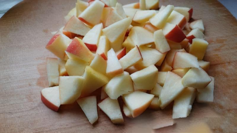 Пісочний пиріг зі сливами і яблуками 7