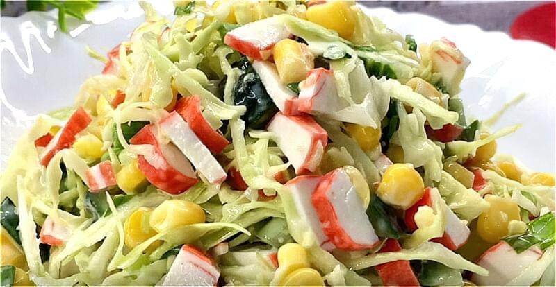 Салат зі свіжої капусти - прості і дуже смачні рецепти 1