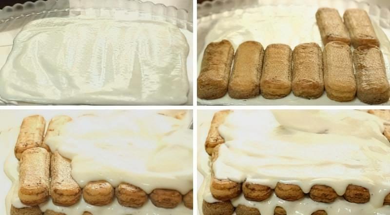 формуємо торт тірамісу