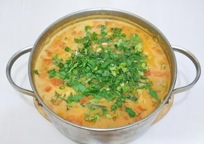 Густий гороховий суп зі свининою і копченою куркою 15