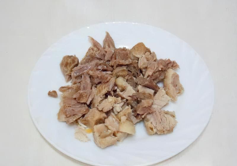 Густий гороховий суп зі свининою і копченою куркою 4