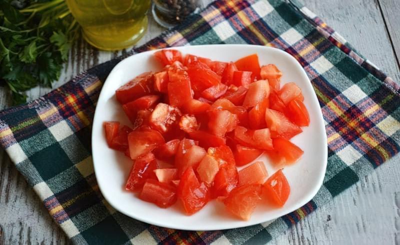 Картопля, тушкована зі стручковою квасолею і помідорами 10