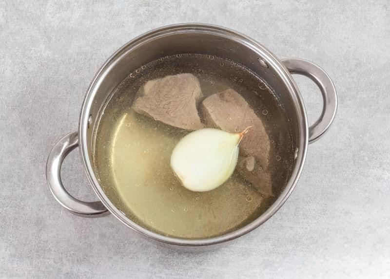 Картопляна запіканка з вареним м'ясом 3