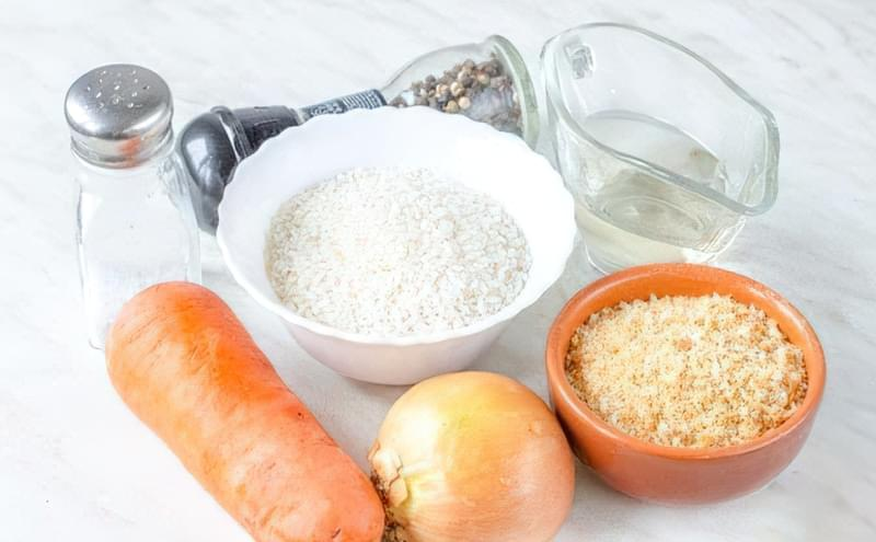 Рисові котлети з цибулею і морквою 1