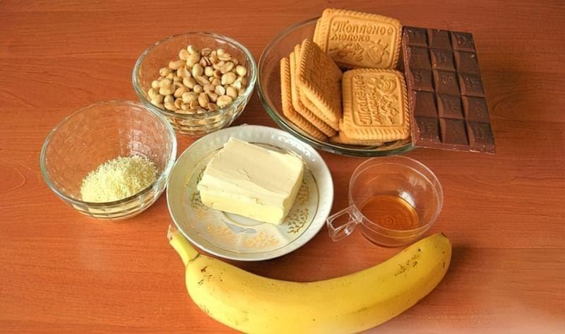 Тістечка «Карпати» з бананом (без випічки) 1