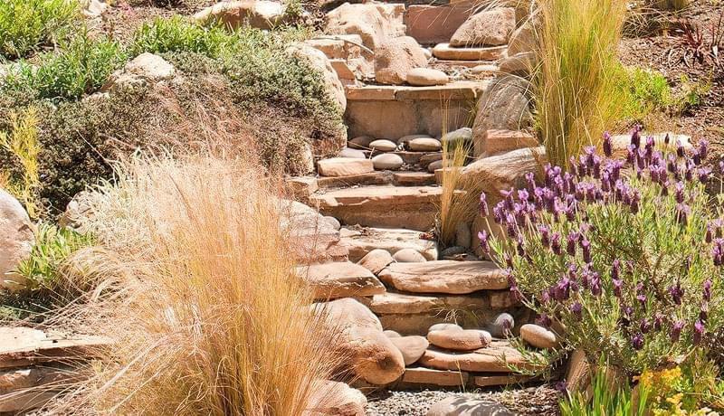 Каміння в ландшафтному дизайні - всі варіанти застосування 3