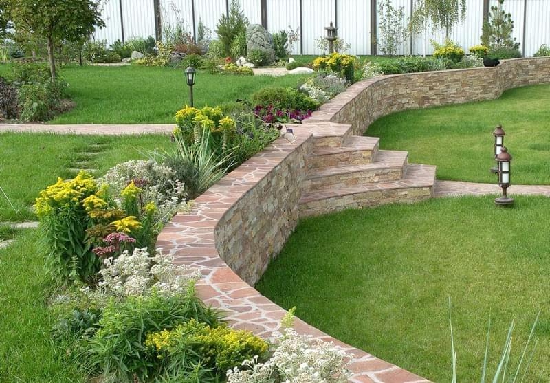 Каміння в ландшафтному дизайні - всі варіанти застосування 4