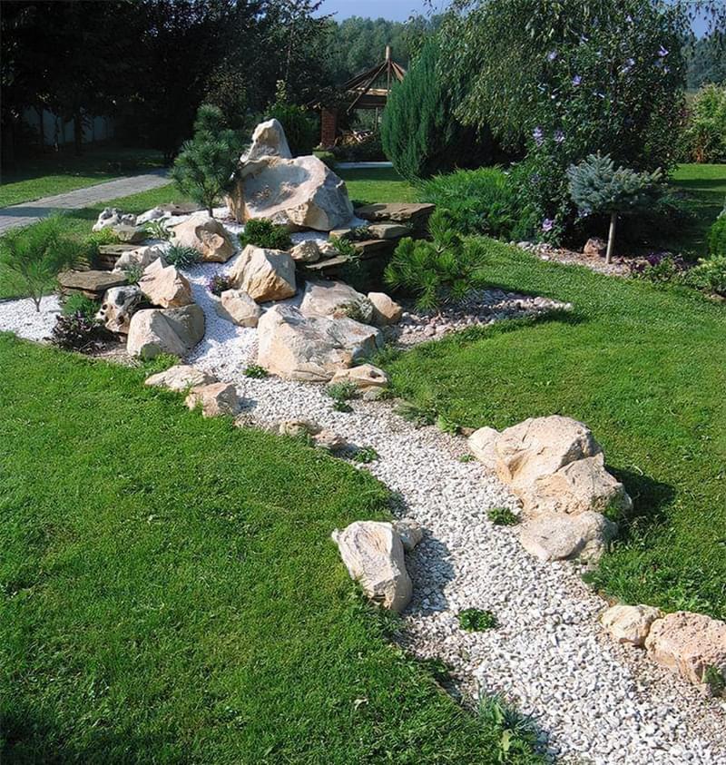Каміння в ландшафтному дизайні - всі варіанти застосування 6