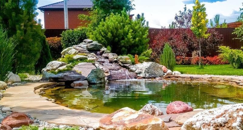 Каміння в ландшафтному дизайні - всі варіанти застосування 14