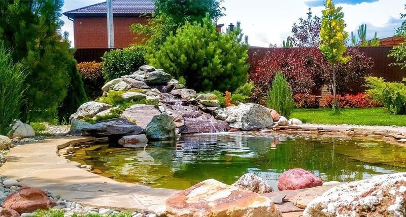 Каміння в ландшафтному дизайні - всі варіанти застосування 7