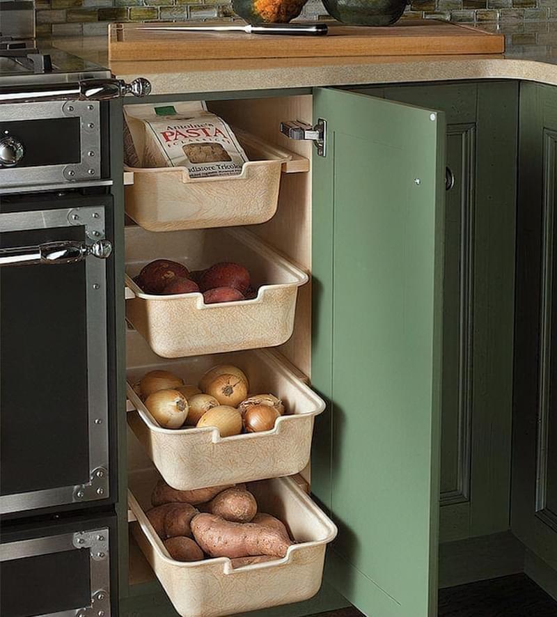 Оригінальні ідеї зберігання овочів і фруктів на кухні 9