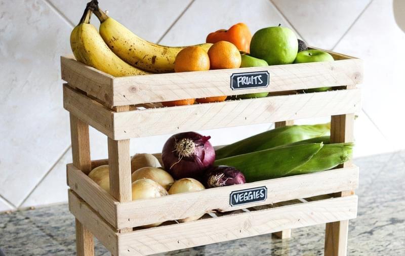 Оригінальні ідеї зберігання овочів і фруктів на кухні 3
