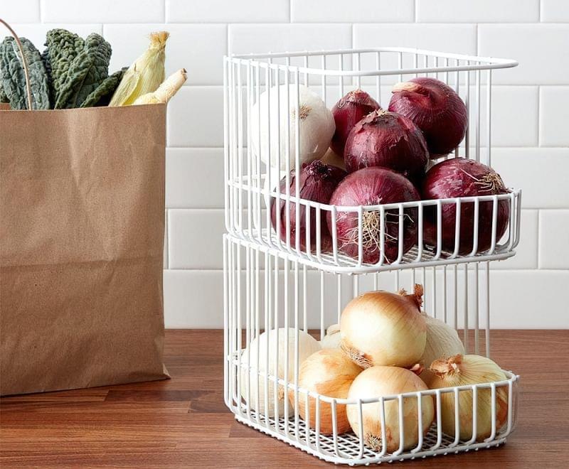 Оригінальні ідеї зберігання овочів і фруктів на кухні 6