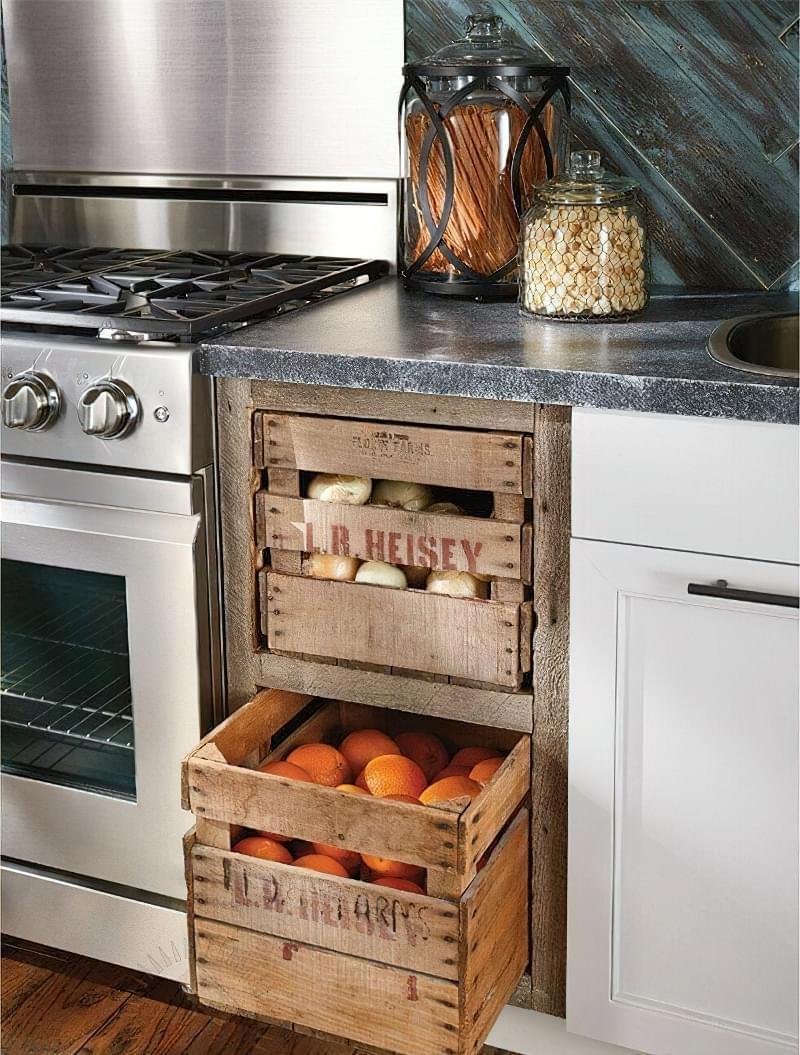 Оригінальні ідеї зберігання овочів і фруктів на кухні 7
