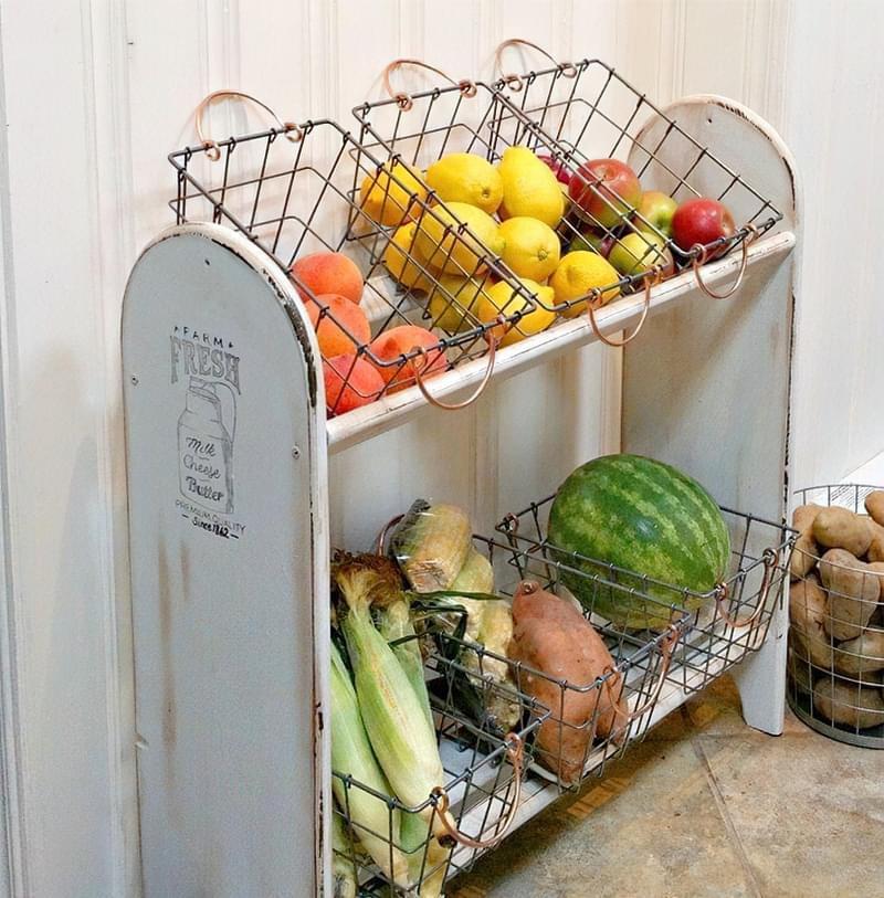 Оригінальні ідеї зберігання овочів і фруктів на кухні 8
