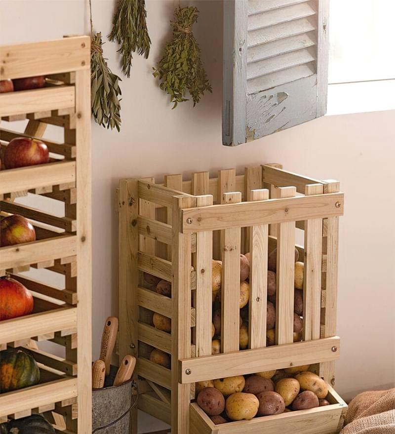Оригінальні ідеї зберігання овочів і фруктів на кухні 1