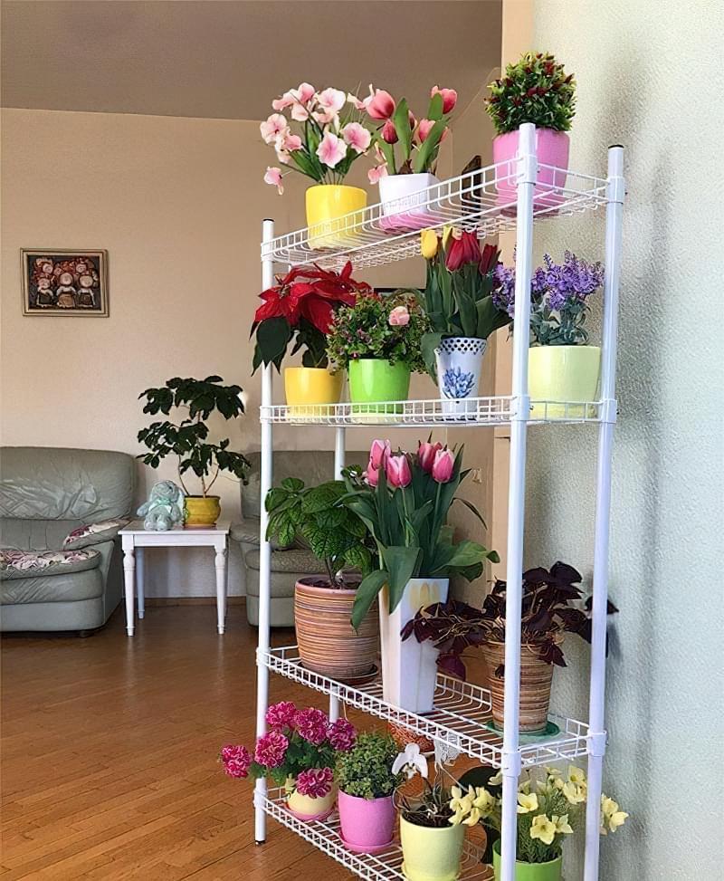Стелажі і полиці для кімнатних рослин: види та приклади 2