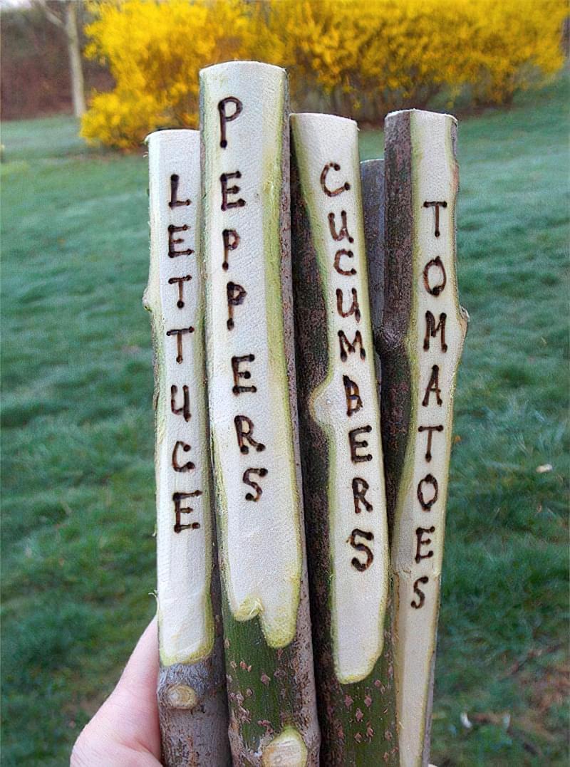 Садово-городні маркери своїми руками 2