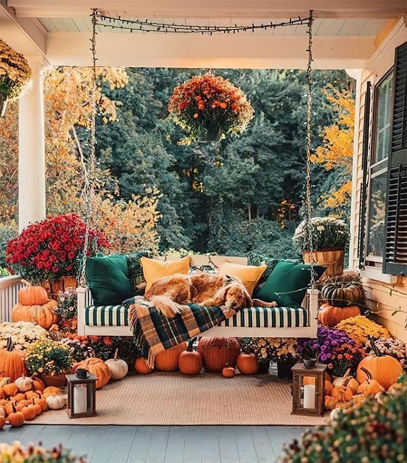 Як можна прикрасити ділянку восени 5
